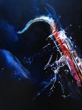 Saxophone, Huile, 2012