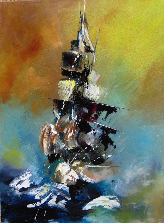 Pirate, 2014, Huile