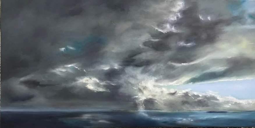 Orage, Huile, 120x60cm